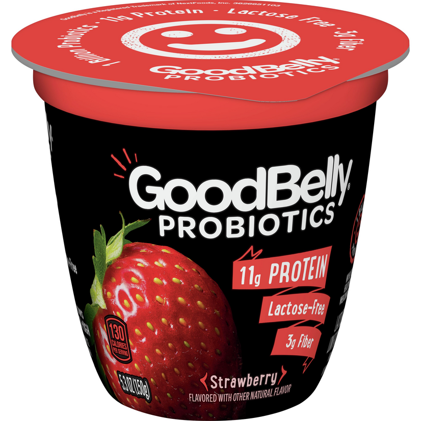 """<p><strong>GoodBelly</strong></p><p><strong>$1.99</strong></p><p><a href=""""https://www.mercato.com/item/goodbelly-probiotics-yogurt-low-fat-lactose-free-strawberry-53-ounces/751337"""" rel=""""nofollow noopener"""" target=""""_blank"""" data-ylk=""""slk:Shop Now"""" class=""""link rapid-noclick-resp"""">Shop Now</a></p><p>Yogurt in general is one of the dairy products that is naturally lower in lactose, making it easier for even the lactose-tolerant to digest. But for a totally lactose-free version of the fruity snack, you can try <a href=""""https://goodbelly.com/"""" rel=""""nofollow noopener"""" target=""""_blank"""" data-ylk=""""slk:GoodBelly's"""" class=""""link rapid-noclick-resp"""">GoodBelly's</a> yogurt, which is packed with gut-healthy probiotics and protein.</p>"""