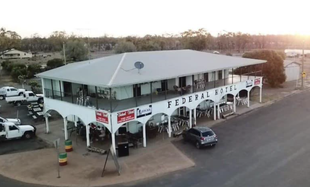 The Federal Hotel in Wallumbilla was fined over the weekend. Source: Facebook