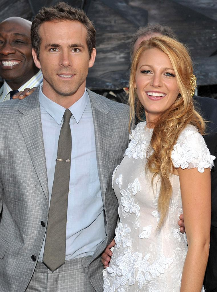 <p>The future spouses pose together at the premiere of <i>Green Lantern </i>on June 15, 2011. They would officially begin dating that October. <i>(Photo: Lester Cohen/WireImage)</i></p>