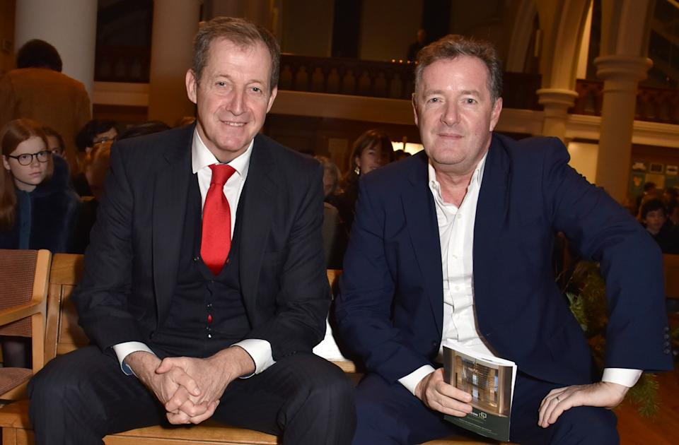 Alastair Campbell and Piers Morgan are old rivals. (Getty Images)