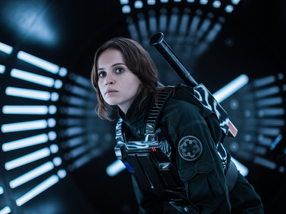 Rogue One: A Star Wars Story had a female lead but men still dominated the scfreen