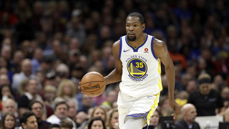 Kevin Durant was plenty hot on the court and plenty cold in the showers. (AP)