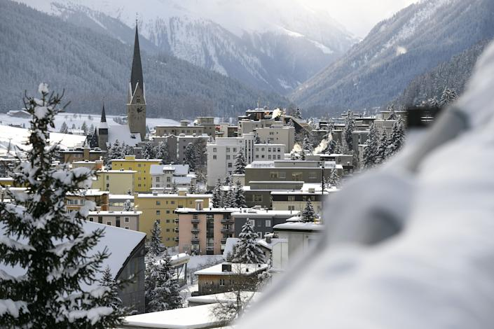 The ski resort of Davos, Switzerland, where the world's political and business elite gather for the annual meeting of the World Economic Forum. (Photo: FABRICE COFFRINI/AFP via Getty Images)