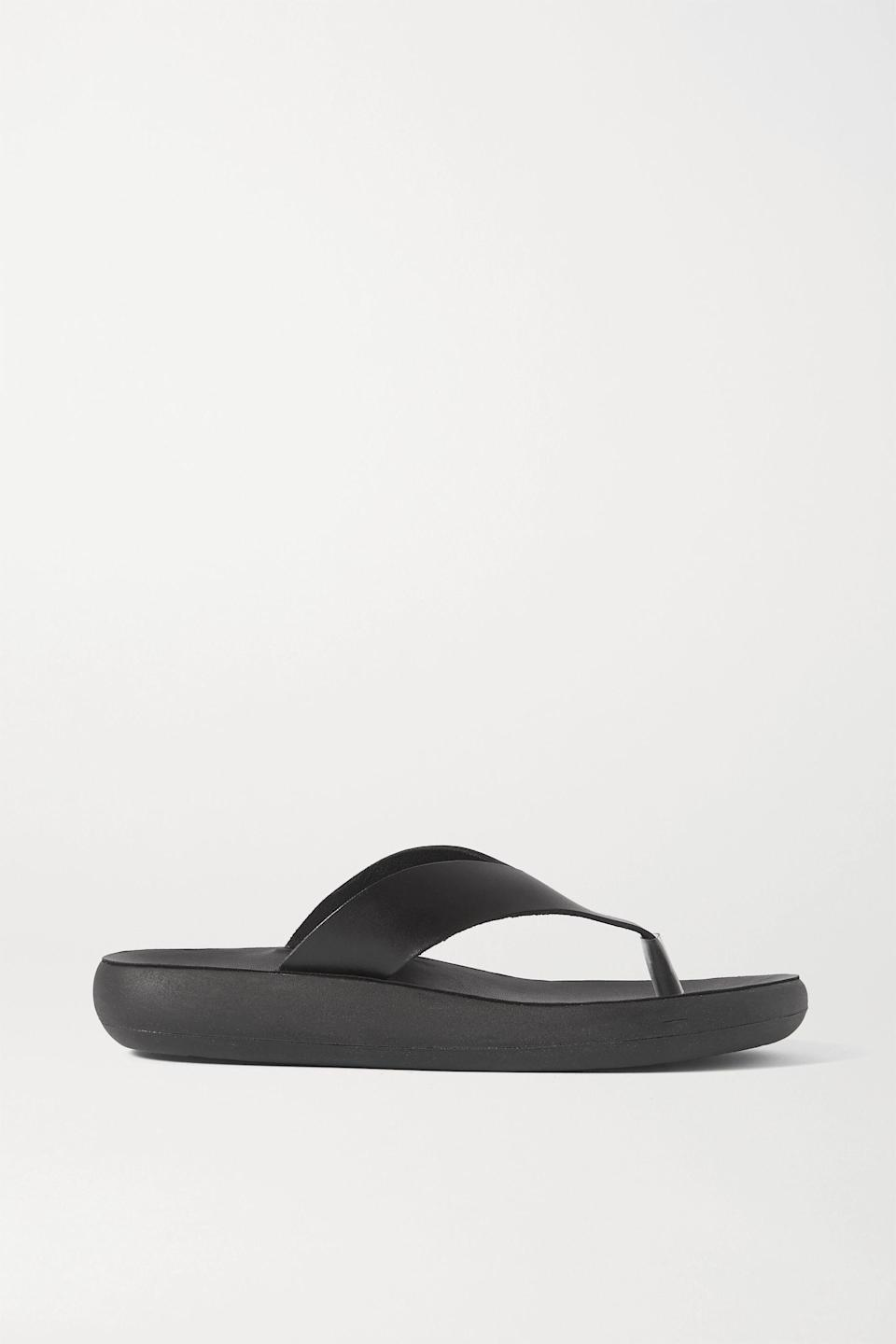 """<p><strong>Ancient Greek Sandals</strong></p><p>net-a-porter.com</p><p><strong>$220.00</strong></p><p><a href=""""https://go.redirectingat.com?id=74968X1596630&url=https%3A%2F%2Fwww.net-a-porter.com%2Fen-us%2Fshop%2Fproduct%2Fancient-greek-sandals%2Fcharys-leather-sandals%2F1301206&sref=https%3A%2F%2Fwww.cosmopolitan.com%2Fstyle-beauty%2Ffashion%2Fg35017315%2F2021-shoe-trends%2F"""" rel=""""nofollow noopener"""" target=""""_blank"""" data-ylk=""""slk:Shop Now"""" class=""""link rapid-noclick-resp"""">Shop Now</a></p><p>These leather flip flops have a cushioned footbed, so they're extra supportive. </p>"""