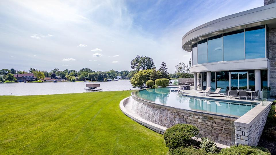 The home of Detroit Lions quarterback Matthew Stafford at 1867 Long Pointe Drive in Bloomfield Twp. is on sale for $6.5 million. The five-bedroom, seven-bathroom lakefront home features 12,295 square feet, including 7,720 above ground.  The house sits on 1.27 acres and the rear faces Upper Long Lake.