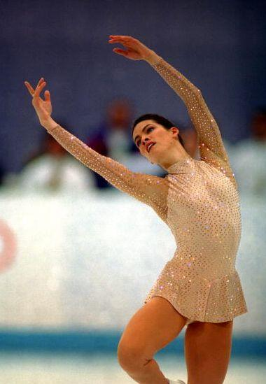 """Ah, Nancy. After winning the bronze at the 1992 Olympics (her fellow American Kristi Yamaguchi came in first), she was famously injured two years later in an attack orchestrated by the ex-husband of <a href=""""http://abcnews.go.com/GMA/story?id=6943837"""" rel=""""nofollow noopener"""" target=""""_blank"""" data-ylk=""""slk:rival skater"""" class=""""link rapid-noclick-resp"""">rival skater</a>, Tonya Harding. Despite her injured knee, the Massachusetts native went on to take silver in the 1994 games -- in Vera Wang, no less."""