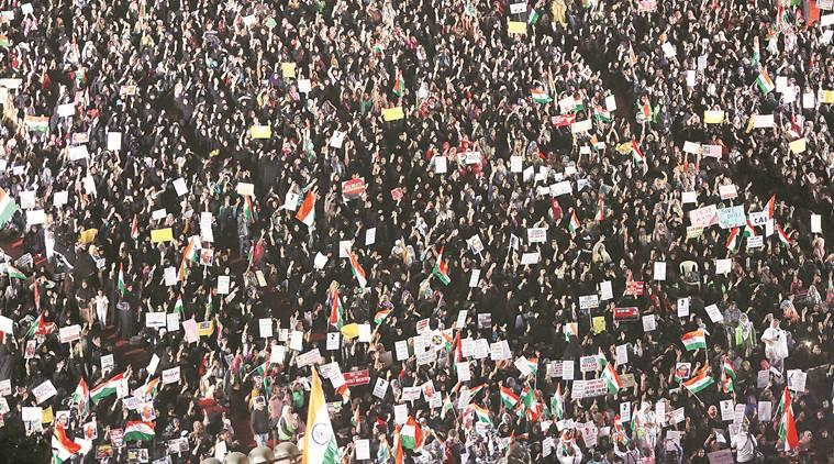 CAA protest, citizenship amendment act, Women hold anti-CAA rally, mumbai news, mumbai city news, maharashtra news, indian express news