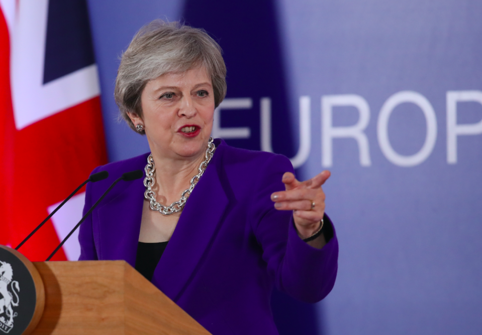 <em>The Prime Minister seemed to calm Tory backbenchers at a crucial meeting at Westminster (Getty)</em>