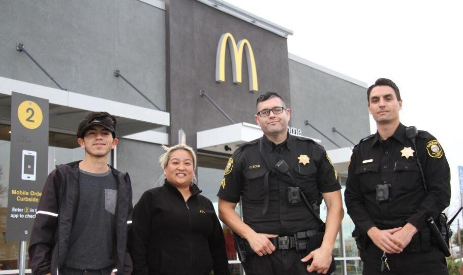 Deputies from the San Joaquin County Sheriff's Office and McDonald's employees helped a woman escape from a disturbing situation on Christmas Eve. (Photo: San Joaquin County Sheriff's Office)