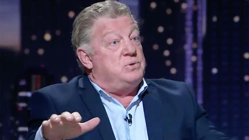 Phil Gould has launched another tirade against the NRL's obstruction rule. Pic: Channel Nine