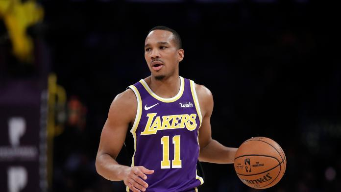 ▲Los Angeles Lakers' Avery Bradley (11) during an NBA basketball game against the Miami Heat Friday, Nov. 8, 2019, in Los Angeles. (AP Photo/Marcio Jose Sanchez)