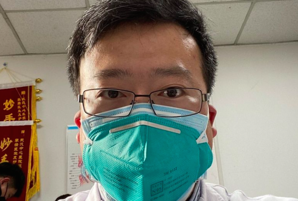 Dr Li Wenliang was silenced by Chinese police after warning about the coronavirus outbreak (Picture: Weibo)