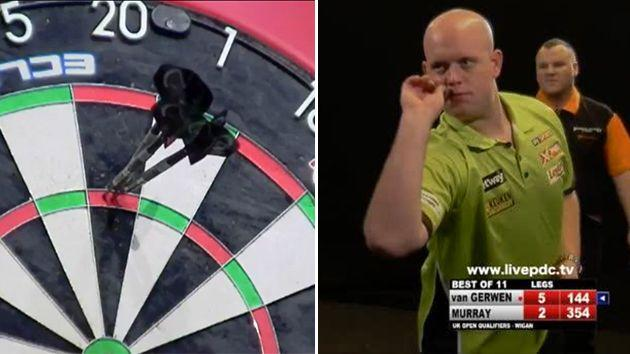 Ridiculous from Van Gerwen. Image: PDC