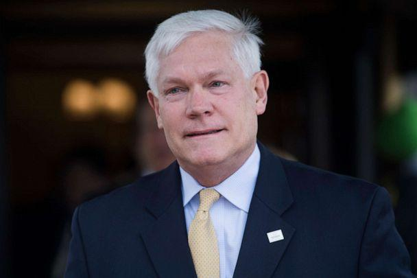 PHOTO: Rep. Pete Sessions, R-Texas, leaves a meeting of the GOP Conference at the Capitol Hill Club on April 17, 2018. (CQ-Roll Call, Inc via Getty Images, FILE)