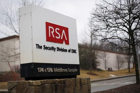 File photo of a sign at the entrance to RSA's facility in Bedford