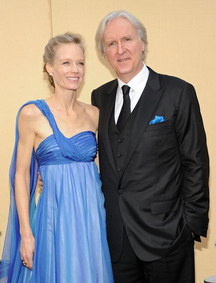 Suzy Amis and James Cameron arrive at the 82nd Annual Academy Awards held at Kodak Theatre on March 7, 2010 in Hollywood, California.