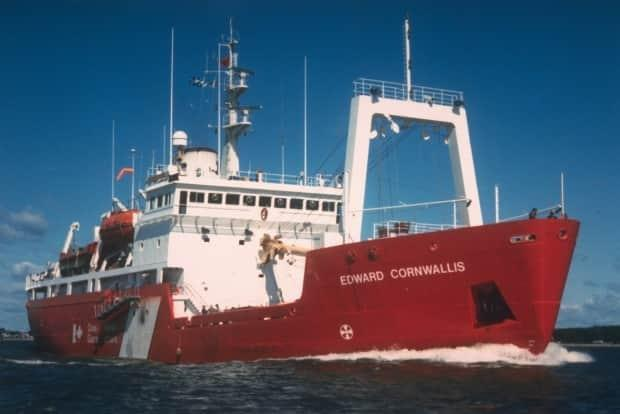The former Canadian Coast Guard Ship Edward Cornwallis. The vessel has been renamed the CCGS Kopit Hopson 1752.  (Submitted/Canadian Coast Guard - image credit)
