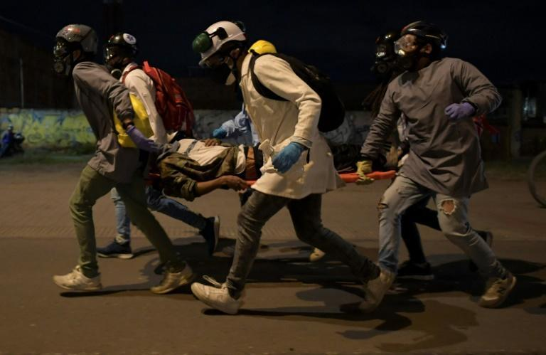 In five weeks of unrest, 59 people have died across Colombia according to official data, with more than 2,300 civilians and uniformed personnel injured