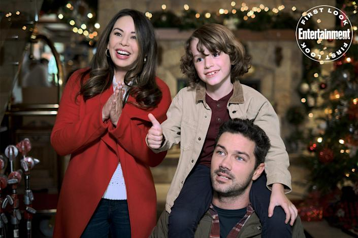"""<p><strong>Premieres:</strong> Oct. 30, 8 p.m. ET/PT, Hallmark Channel</p> <p><strong>Stars:</strong> Janel Parrish, Ryan Paevey </p> <p><strong>Contains:</strong> A """"Christmas Around the World"""" party</p> <p><strong>Official description:</strong> A """"Christmas Around the World"""" party helps two people find love at home.</p>"""