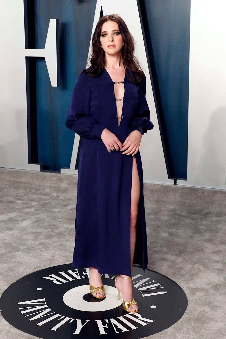 <p>Hari Nef catapulted into the limelight in 2015 after becoming the first trans model to be signed to the modeling agency IMG models. Since then, she has made a splash in the fashion scene and has gone along to star in the movie <strong>Assassination Nation</strong> and made an appearance in the first season of the hit Netflix show <strong>You</strong>. </p>
