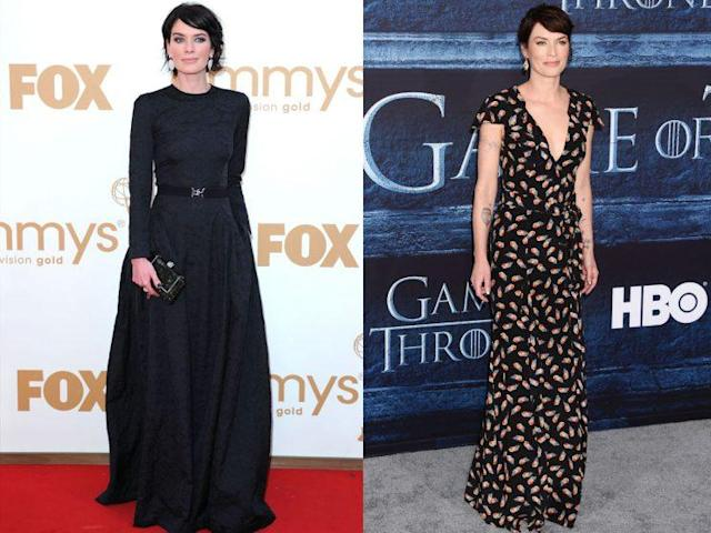 Lena Headey in 2011 and 2016. (Photo: Getty Images)