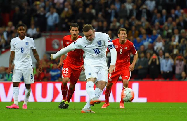 Wayne Rooney becomes England's all-time goalscorer with a penalty against Switzerland in 2015