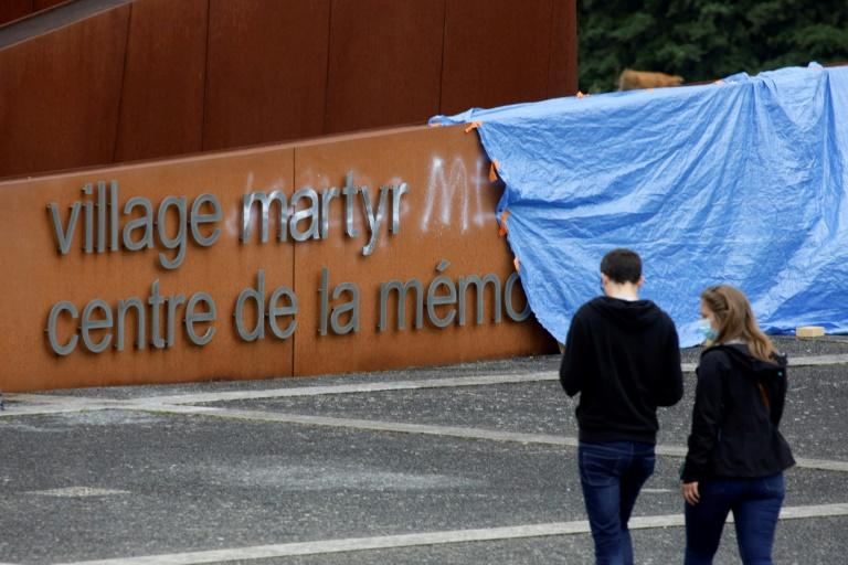 Outrage in France after Nazi massacre memorial defaced