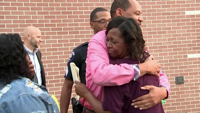 Smith's family was there for the surprise at her school on Tuesday morning.  (TODAY)
