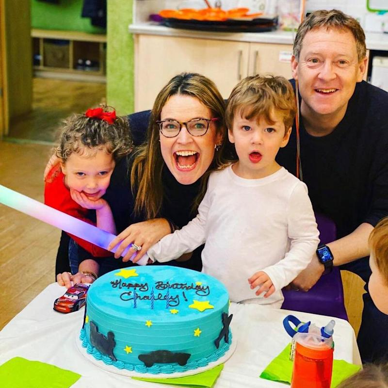 Savannah Guthrie with (L-R) Vale, Charley and Michael Feldman | Savannah Guthrie/Instagram