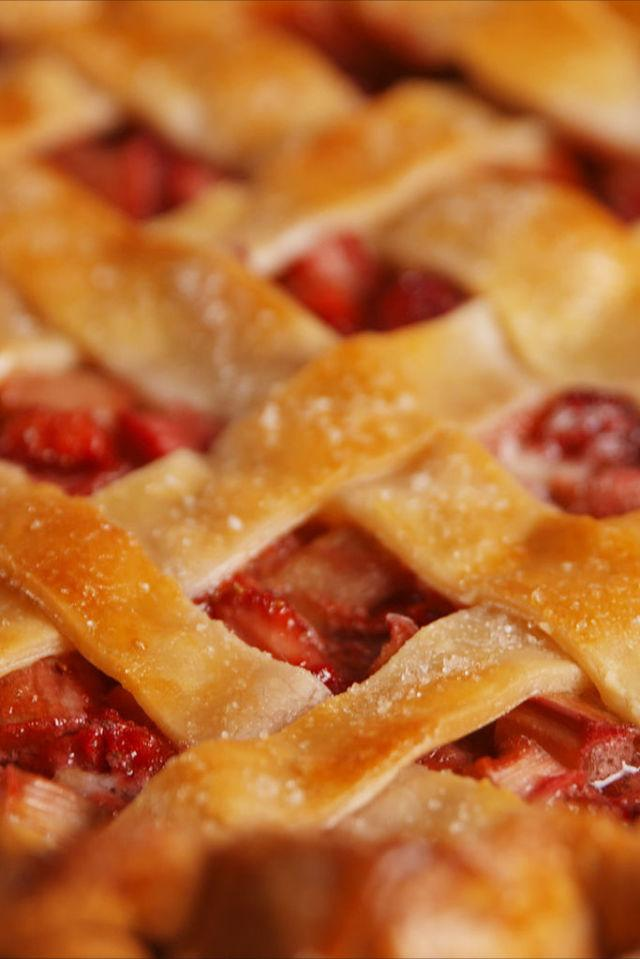 "<p>Celebrate spring with this delicious, tart and sweet pie.</p><p>Get the recipe from <a rel=""nofollow"" href=""http://www.delish.com/cooking/recipe-ideas/recipes/a53154/best-strawberry-rhubarb-pie-recipe/"">Delish</a>.</p>"