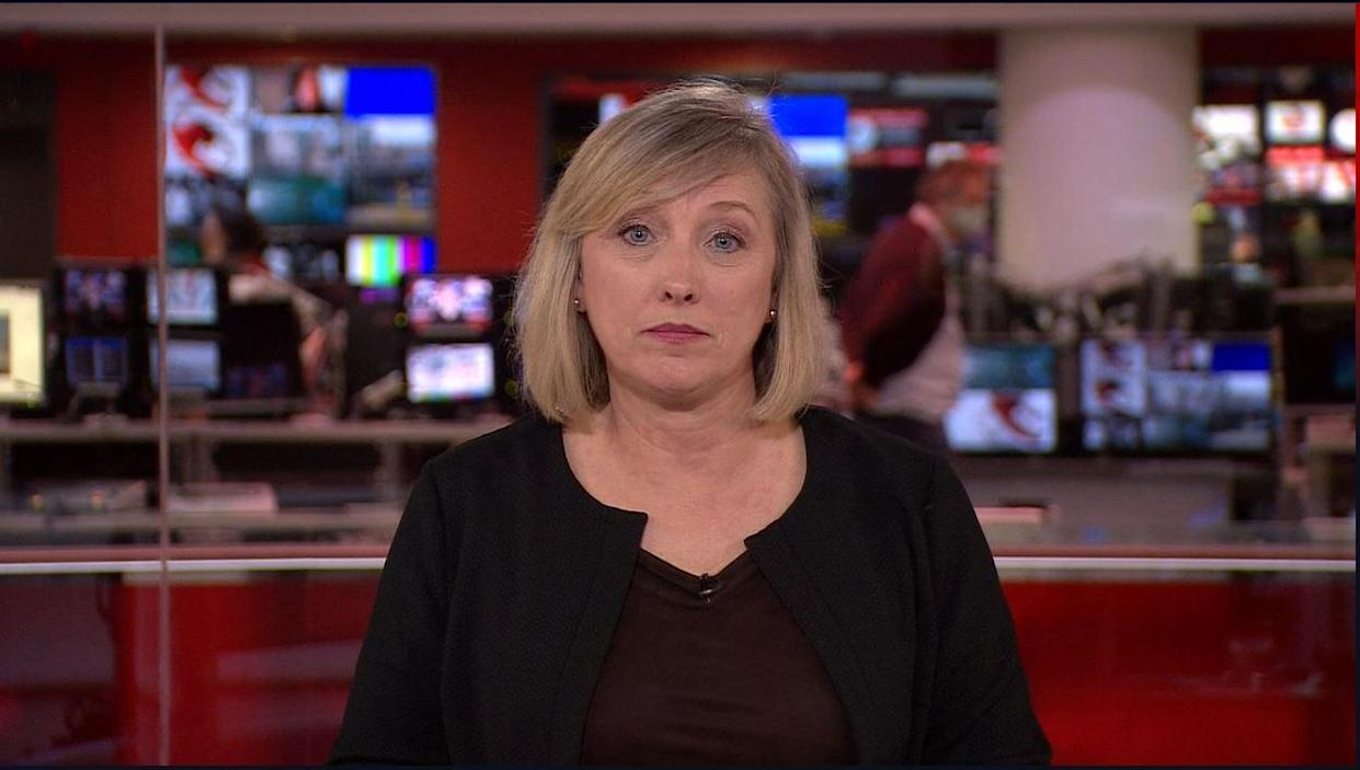 Journalist Martine Croxall announced the news on the BBC (BBC/PA)