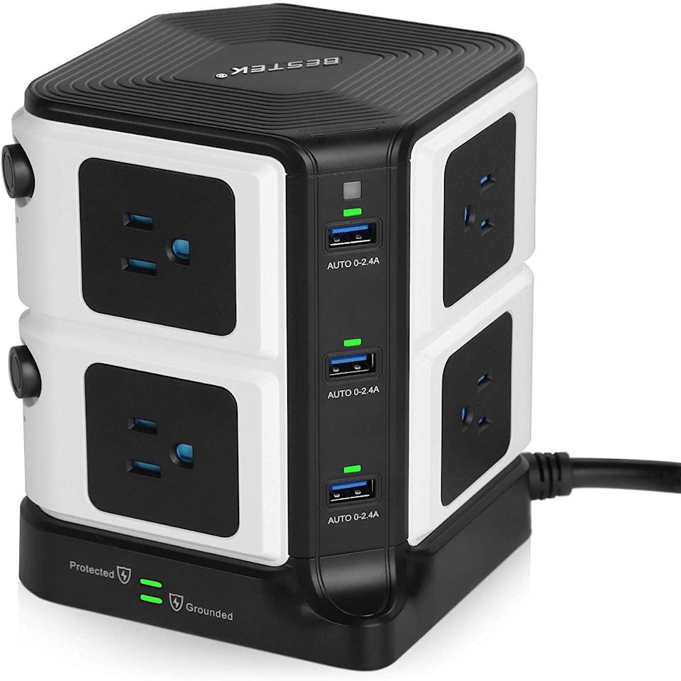<p>This <span>USB Power Strip 8-Outlet Surge Protector</span> ($43) is the ultimate charging station. </p>