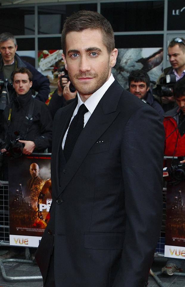 """<a href=""""http://movies.yahoo.com/movie/contributor/1800019221"""">Jake Gyllenhaal</a> at the London premiere of <a href=""""http://movies.yahoo.com/movie/1810041991/info"""">Prince of Persia: The Sands of Time</a> - 05/09/2010"""