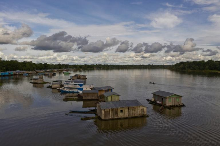Carauari, an Amazonian town where residents fear the reach and spread of the coronavirus COVID-19 pandemic in the rainforest in Brazil is seen on March 16, 2020