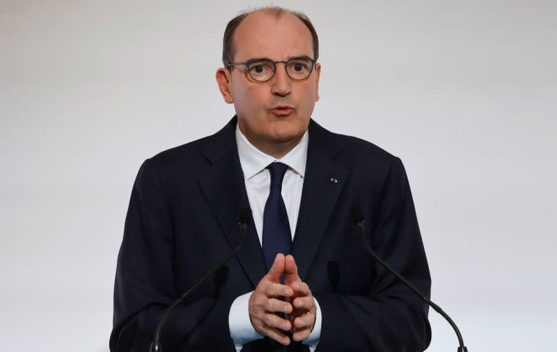FILE PHOTO: French PM Castex holds news conference on COVID-19 strategy, Paris