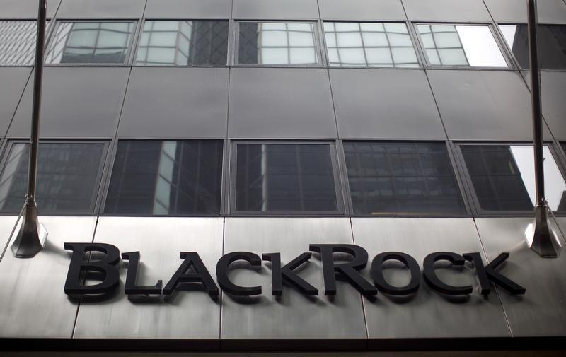 A BlackRock building is seen in New York