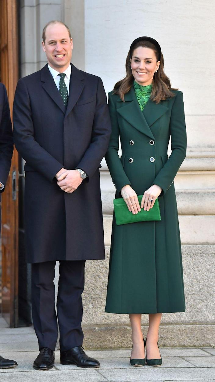 <p>Always on brief, Kate went all-green for a trip to Dublin in 2020. </p>