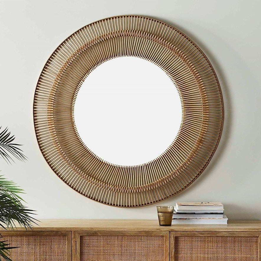 Home Republic's Aztec Large Natural Bamboo Mirror, $174.99,