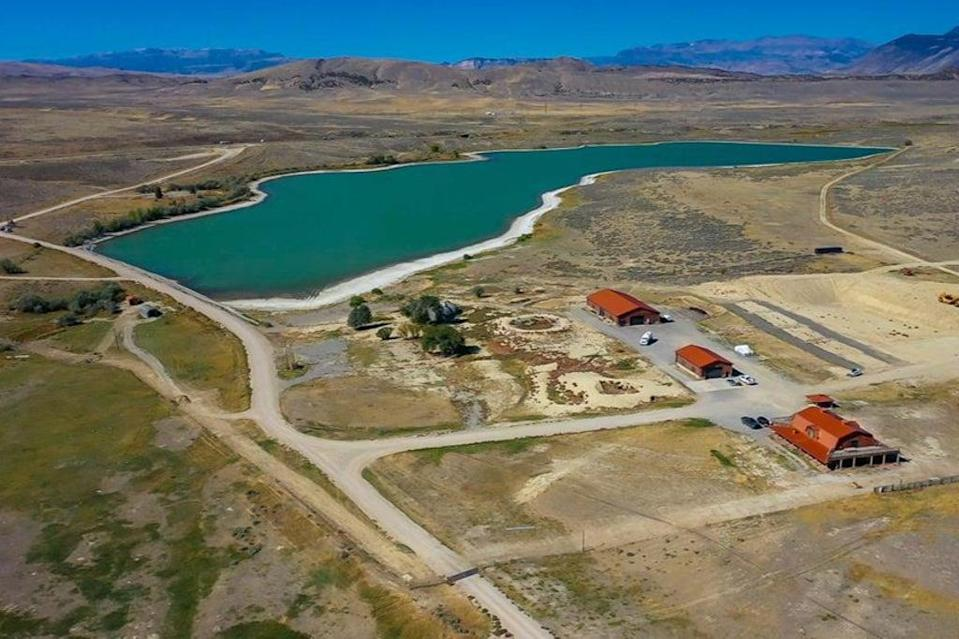 The 'monster ranch' is named after the trout found in the 180-acre private lake (DBW Realty)