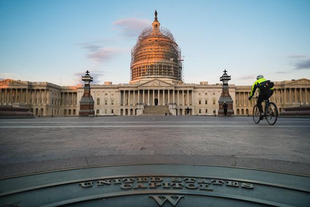 The U.S. Capitol on Election Day. (AP Photo/J. David Ake)
