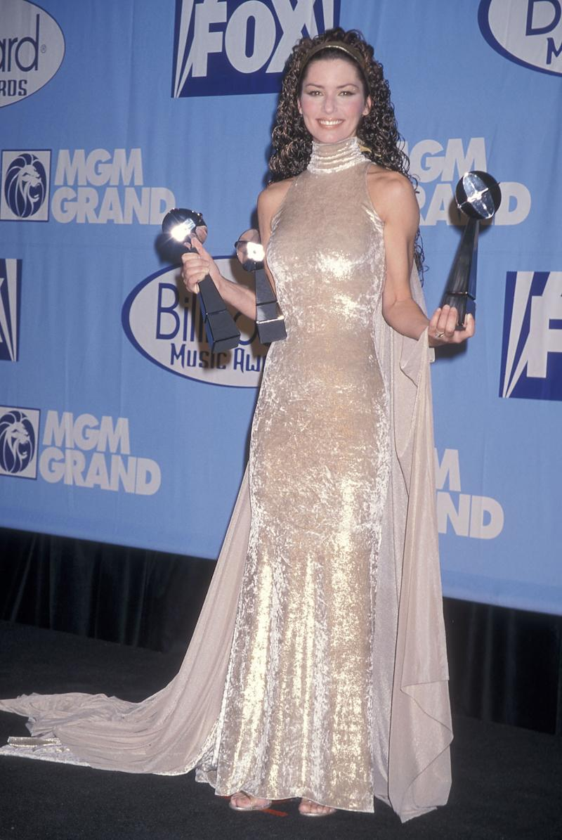 Shania Twain said one of her biggest beauty regrets was perming her hair. (Photo by Ron Galella, Ltd./Ron Galella Collection via Getty Images)