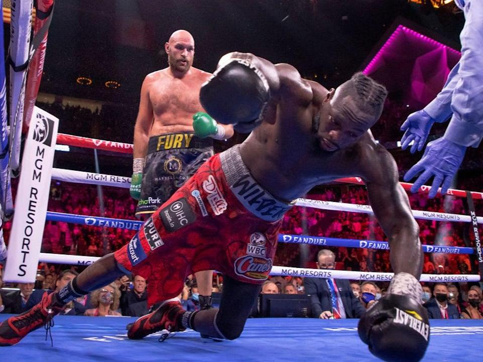 Wilder was knocked out by Fury in the 11th round of their trilogy fight (Getty Images)