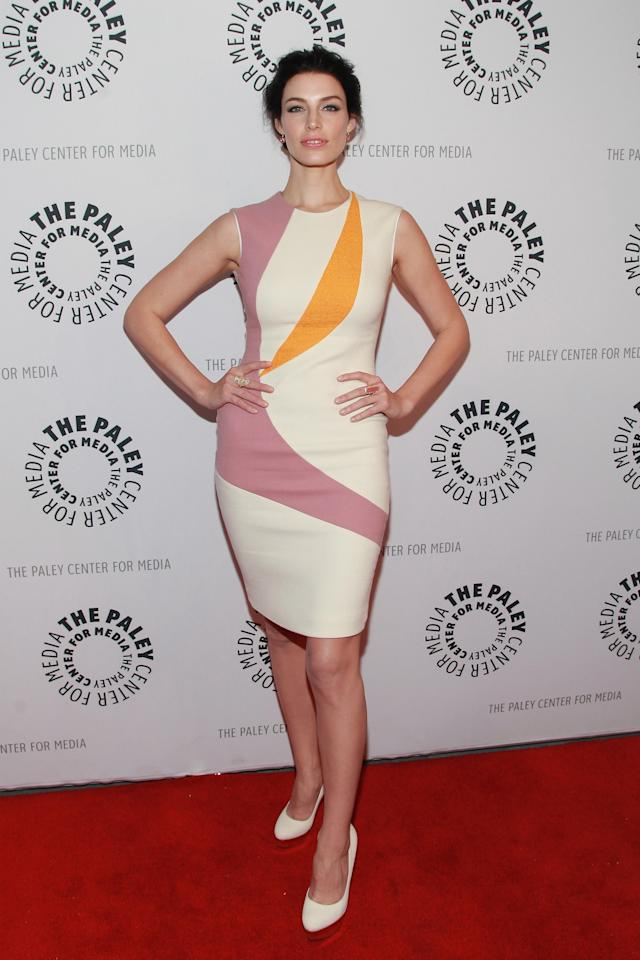"NEW YORK, NY - APRIL 23:  Actress Jessica Pare attends The Paley Center for Media presentation of ""Mad Men"" season 5 at The Paley Center for Media on April 23, 2013 in New York City.  (Photo by Taylor Hill/Getty Images)"