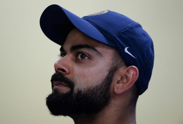 Indian captain Virat Kohli attends a press conference ahead of the third Test against Australia in Ranchi, on March 15, 2017