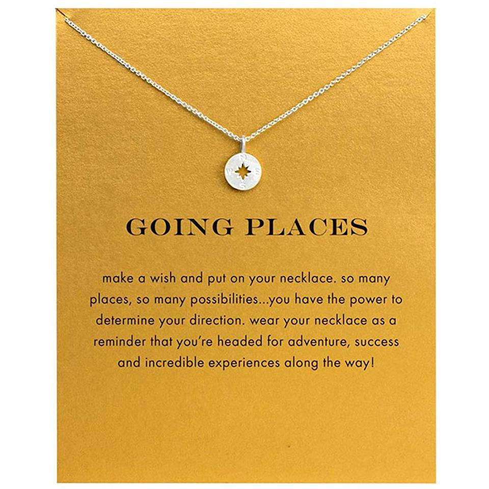 friendship compass necklace, $5 christmas gifts