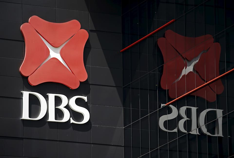 A logo of DBS is pictured outside an office in Singapore January 5, 2016.  REUTERS/Edgar Su