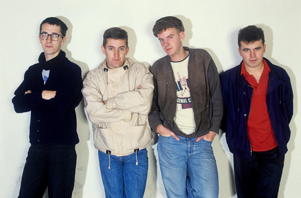 The Housemartins (mit Sänger Paul Heaton) on 25.11.1987 in München / Munich. (Photo by Fryderyk Gabowicz/picture alliance via Getty Images)