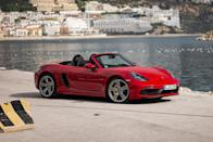 "<p>Few vehicles fulfill their intended mission as well as the <a href=""https://www.caranddriver.com/porsche/718-boxster"" rel=""nofollow noopener"" target=""_blank"" data-ylk=""slk:2021 Porsche 718 Boxster"" class=""link rapid-noclick-resp"">2021 Porsche 718 Boxster</a> does, and that's why it's one of our <a href=""https://www.caranddriver.com/features/a34690717/10best-2021-porsche-718-boxster-cayman/"" rel=""nofollow noopener"" target=""_blank"" data-ylk=""slk:2021 10Best award"" class=""link rapid-noclick-resp"">2021 10Best award</a> winners. Same goes for its coupe brother, the <a href=""https://www.caranddriver.com/porsche/718-cayman"" rel=""nofollow noopener"" target=""_blank"" data-ylk=""slk:718 Cayman"" class=""link rapid-noclick-resp"">718 Cayman</a>. This car's mid-engine design and sport-tuned chassis help it to deliver perfectly balanced driving dynamics, and its lineup of horizontally opposed four- and six-cylinder engines provide plenty of power to accompany this roadster's sharp handling. Buyers can choose between a six-speed manual transmission and a quick-shifting seven-speed automatic for this rear-driver. Drop the top, let the wind rush through your hair, and enjoy all the performance and driving satisfaction that <a href=""https://www.caranddriver.com/porsche"" rel=""nofollow noopener"" target=""_blank"" data-ylk=""slk:Porsche"" class=""link rapid-noclick-resp"">Porsche</a> can deliver for thousands of dollars less than a <a href=""https://www.caranddriver.com/porsche/911"" rel=""nofollow noopener"" target=""_blank"" data-ylk=""slk:911"" class=""link rapid-noclick-resp"">911</a>.</p><p><a class=""link rapid-noclick-resp"" href=""https://www.caranddriver.com/porsche/718-boxster"" rel=""nofollow noopener"" target=""_blank"" data-ylk=""slk:Review, Pricing, and Specs"">Review, Pricing, and Specs</a></p>"