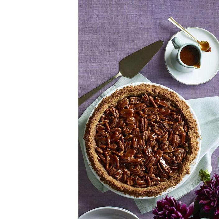 "<p>For the sweet-tooth enthusiast, this salted caramel pecan and chocolate pie takes the cake. Stick with small slices since it can be pretty rich.</p><p><em><a href=""https://www.womansday.com/food-recipes/food-drinks/recipes/a60505/salted-caramel-pecan-and-chocolate-pie-recipe/"" rel=""nofollow noopener"" target=""_blank"" data-ylk=""slk:Get the recipe for Salted Caramel Pecan and Chocolate Pie."" class=""link rapid-noclick-resp"">Get the recipe for Salted Caramel Pecan and Chocolate Pie. </a></em></p>"