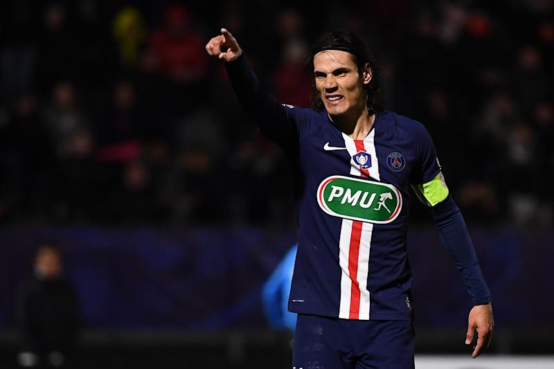 Chelsea interested in Cavani but the striker appears to favour a move to Spain. (AFP via Getty Images)